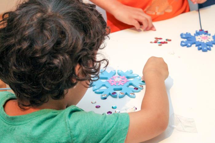 Winter magic snowflake wand craft for kids