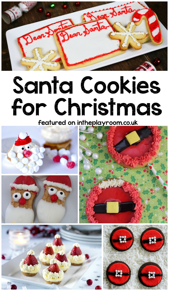 Santa Cookies for Christmas. Huge list of holiday cookies, by category