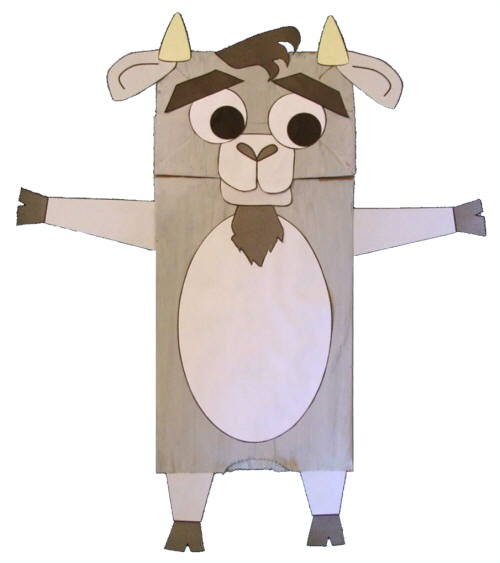 paper bag goat craft for kids