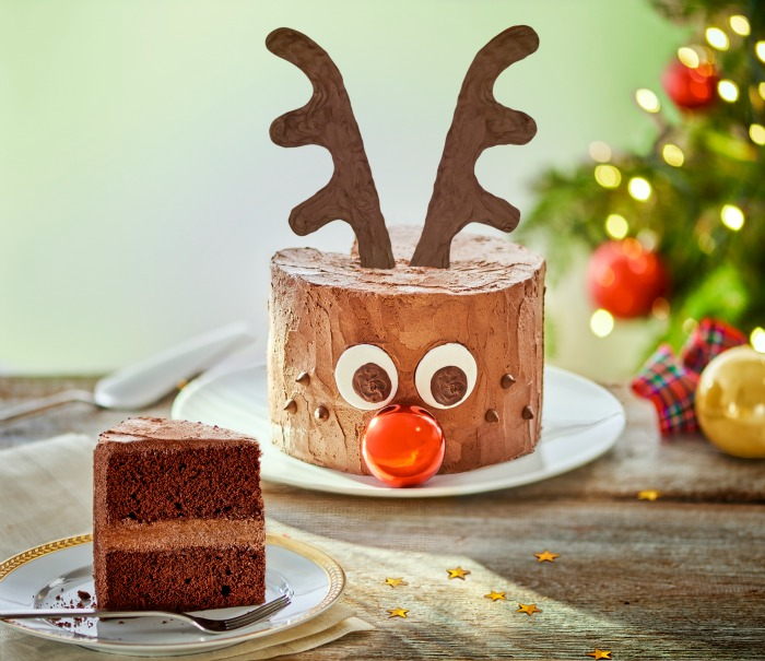 chocolate rudolph cake for Christmas
