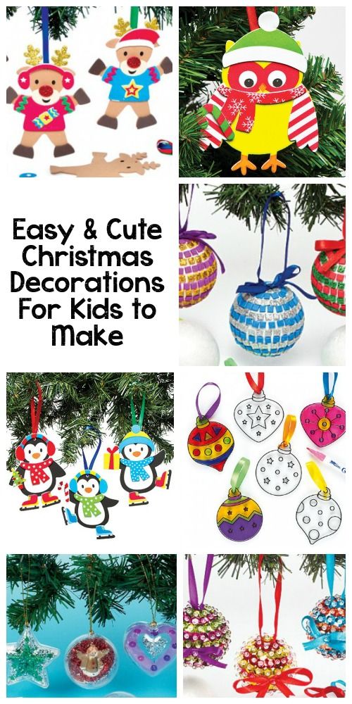 Easy and cute Christmas Decorations for kids to make