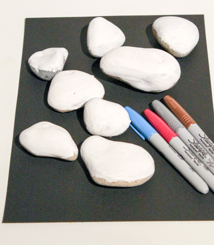 supplies for stone snowman craft