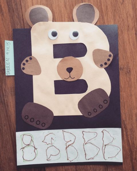 Letter B Bear craft