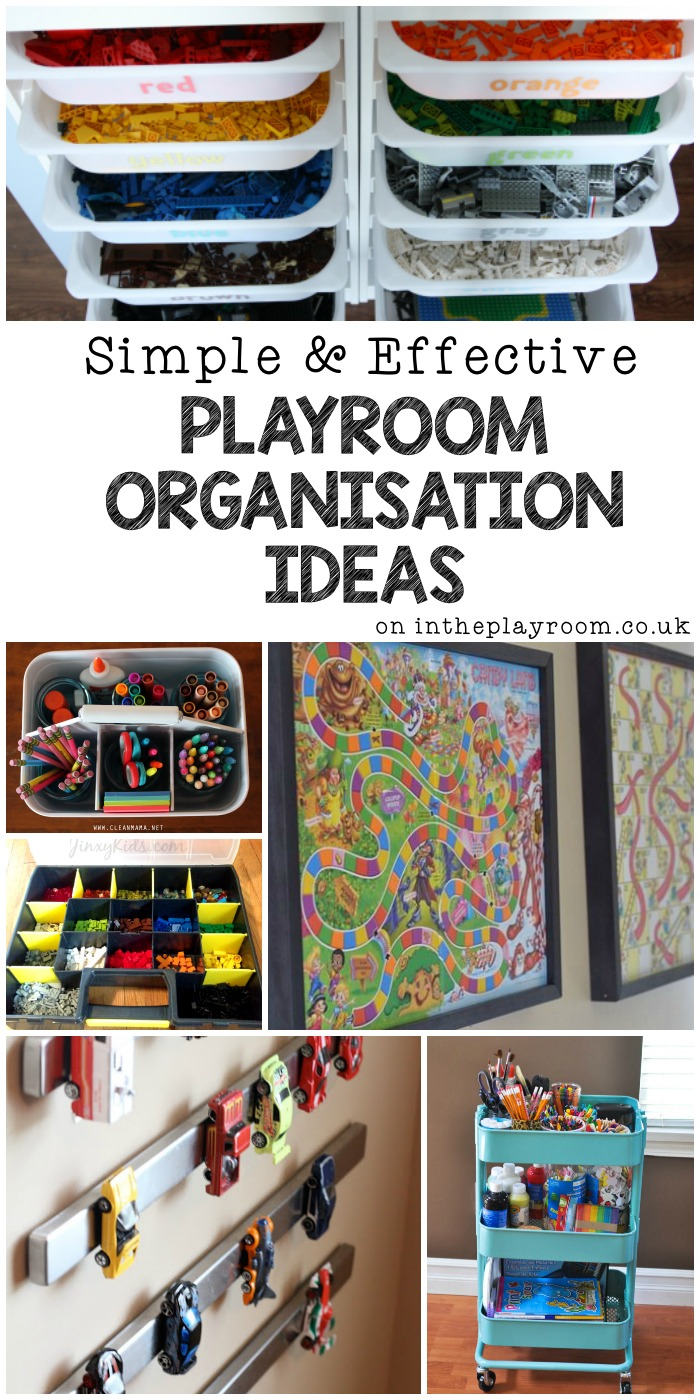 Simple & effective playroom organisation ideas. Great ways to manage toys and declutter your kids rooms
