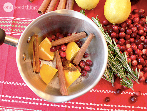 give your home a christmas scent by simmering on the stove