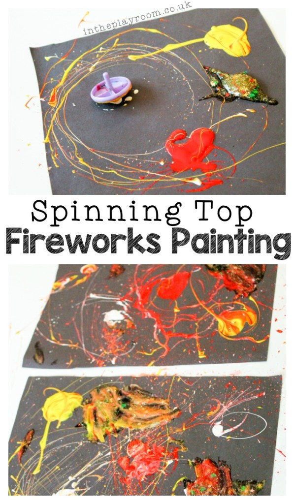 Spinning top Fireworks painting for New Year's Eve