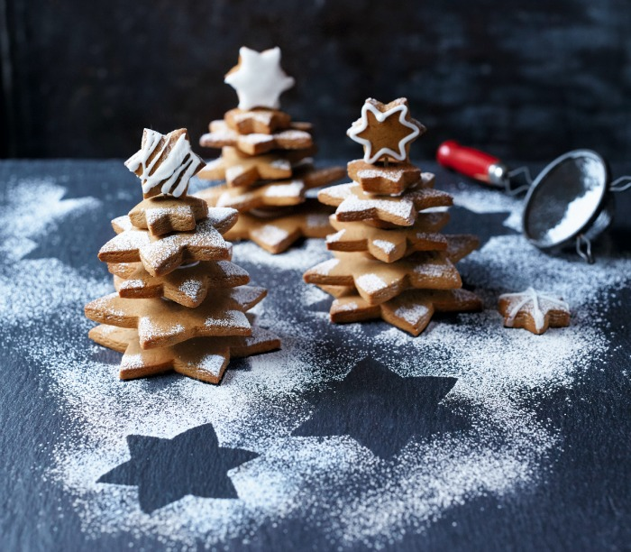 Gingerbread Star Christmas Trees