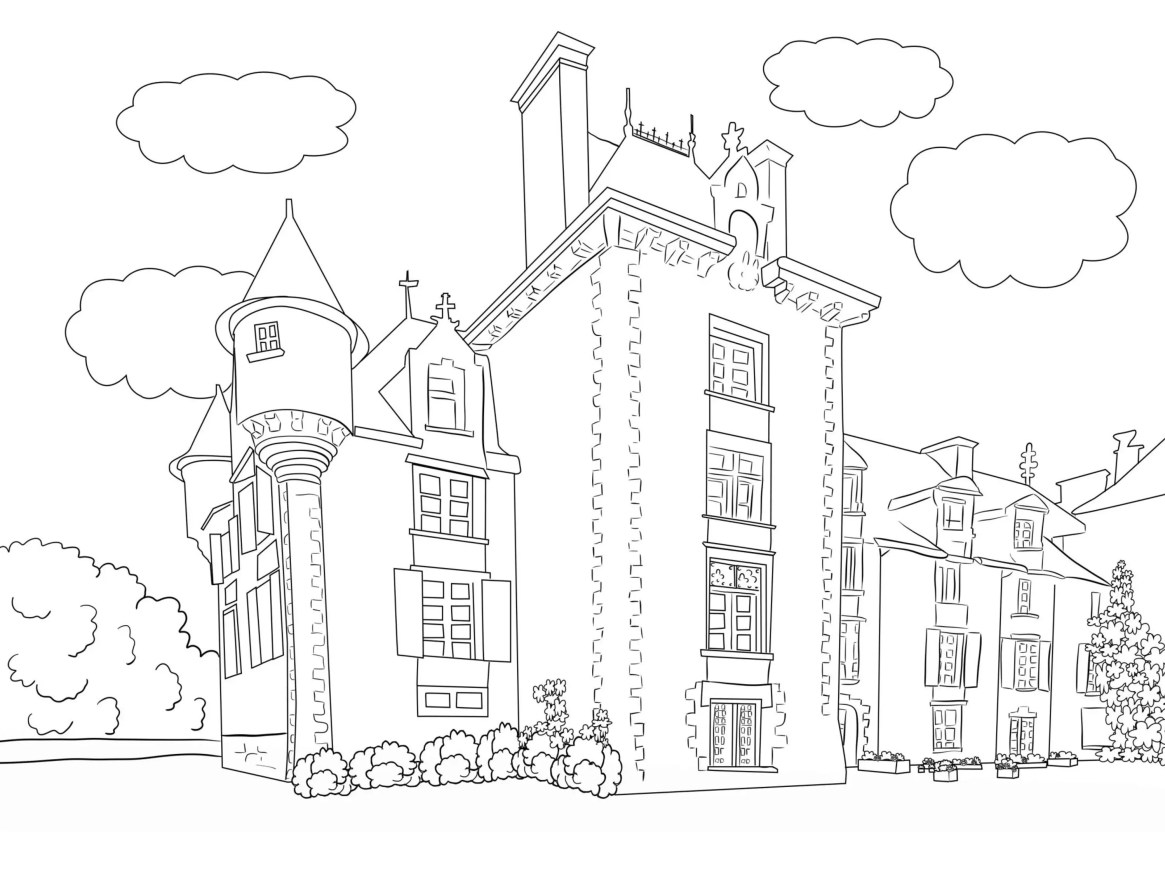 Travel Inspired Beautiful Scenery Colouring Pages for Kids