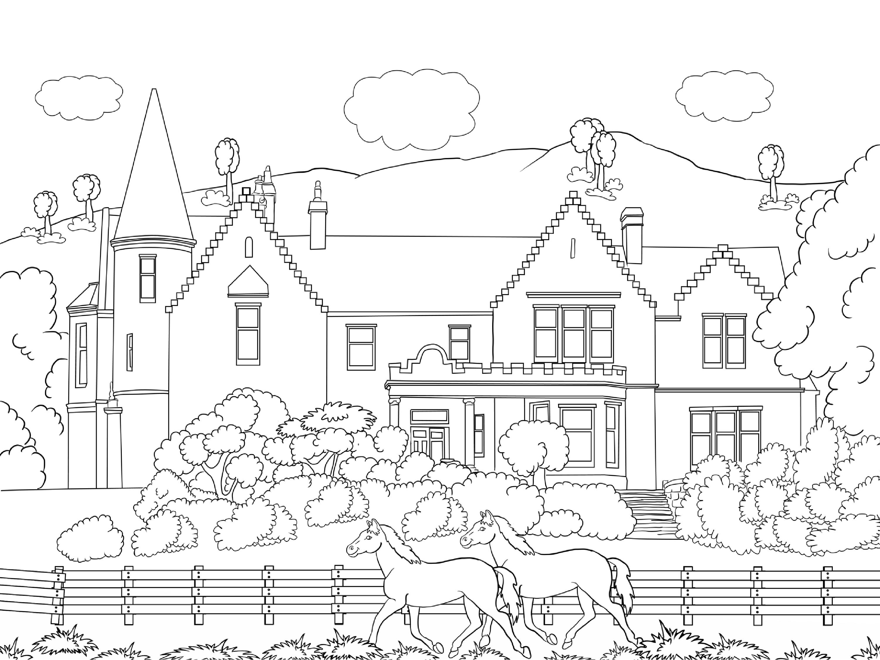 landscape colouring book for kids page 005