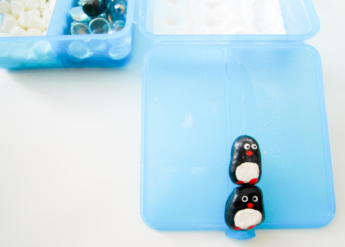 DIY penguin small world slide