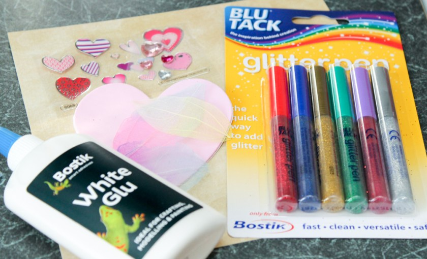 supplies for valentines card