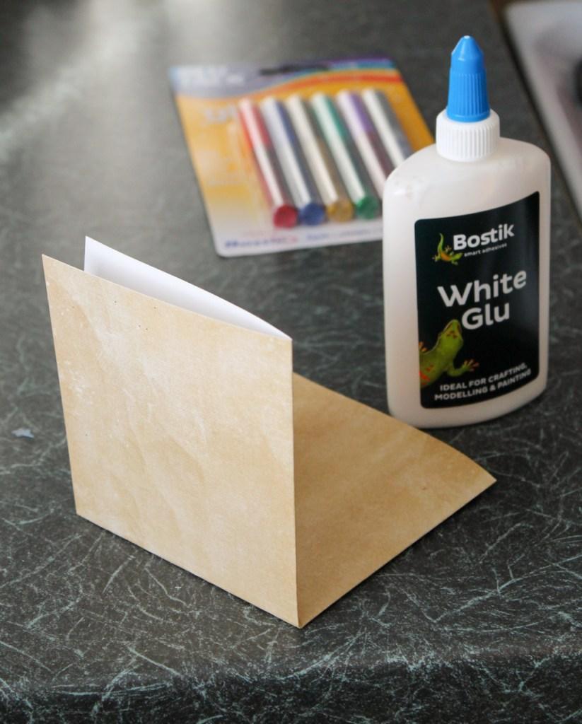 make a card from scrap book paper