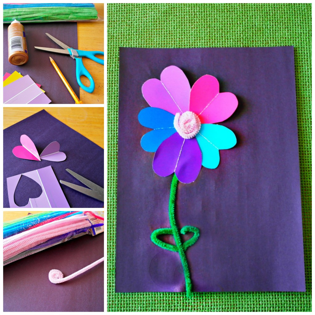 paint sample flower craft for spring