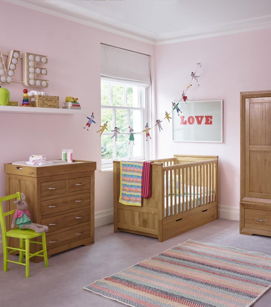 oak furniture land wooden nursery furniture in this gorgeous pink baby girl nursery