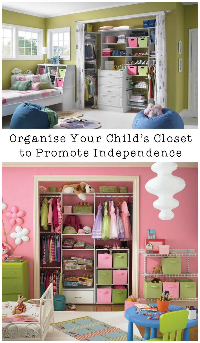 How to organise your child's closet to help them learn independence. These tips are pretty useful!