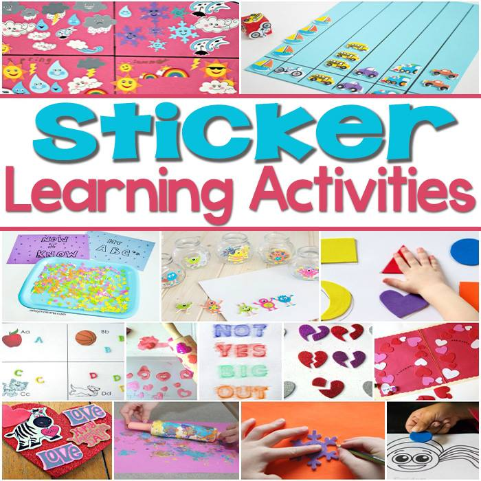 learning with foam stickers