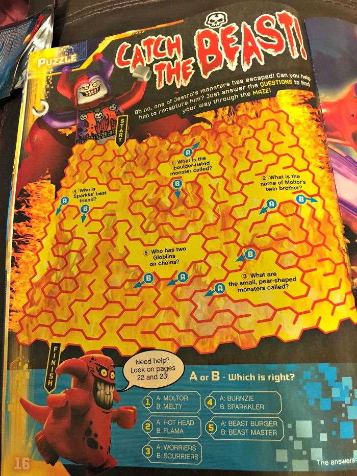 LEGO® NEXO KNIGHTS™ Magazine puzzle page