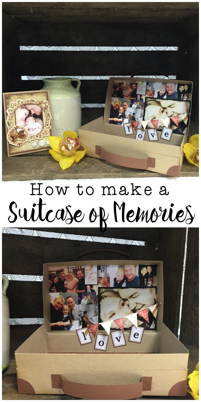 How to make a suitcase of memories craft, perfect for Valentines, anniversary or to keep baby memories in. This is adorable!
