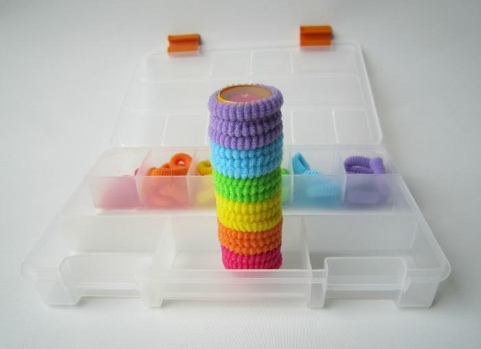 Rainbow fine motor play