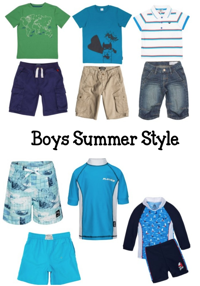 boys summer holiday vacation outfit ideas and swimwear