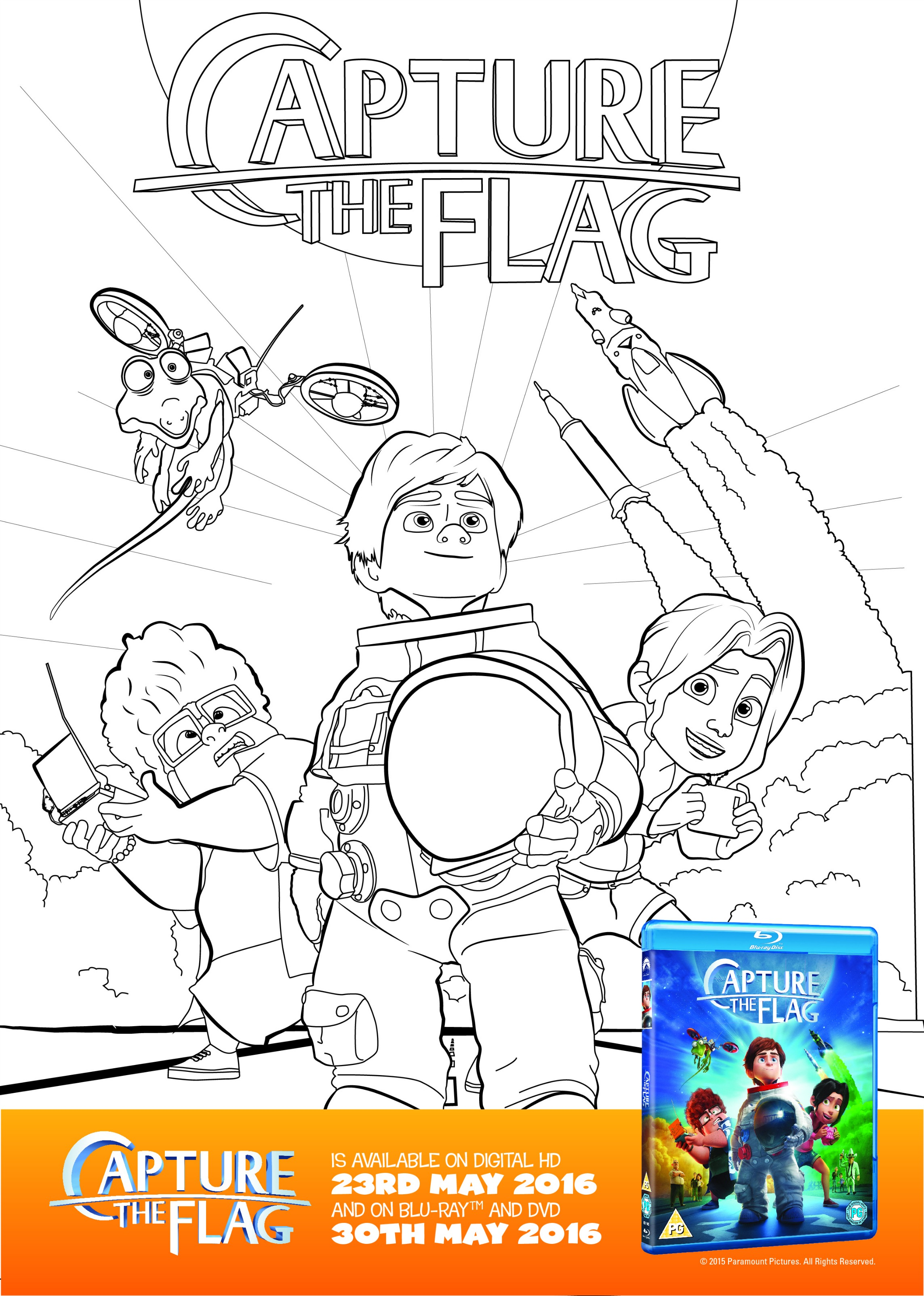 Capture the Flag Space Colouring Sheet and Activity Printable - In ...