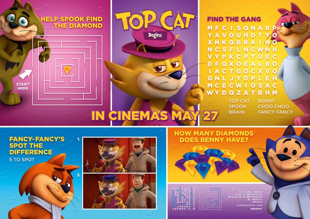 Top cat begins activity sheets