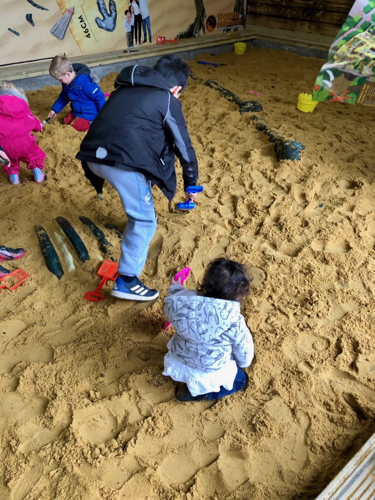 dino dig at World of Dinosaurs at Paradise Wildlife Park