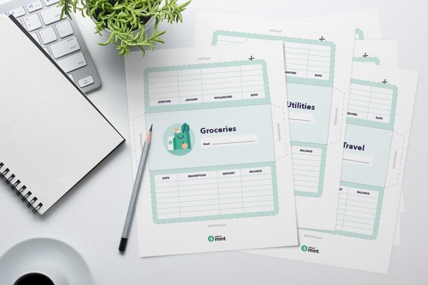 Envelope budget system printables