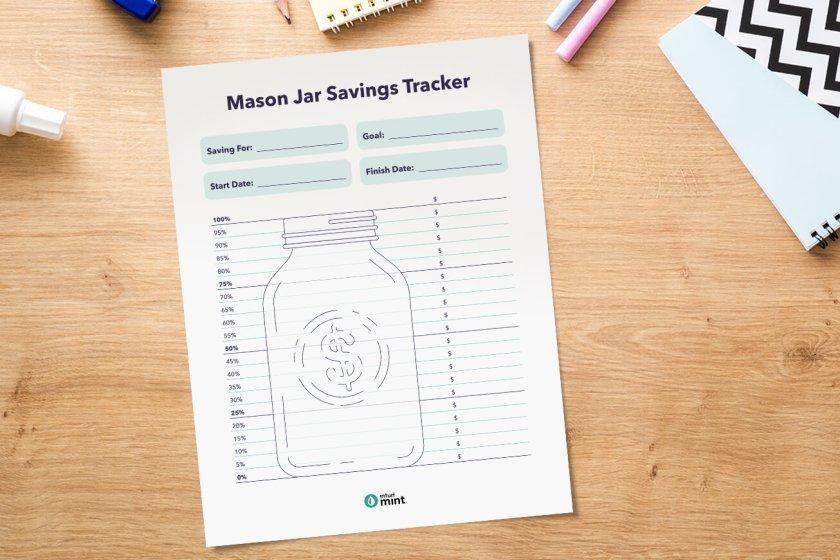 mason jar savings tracker
