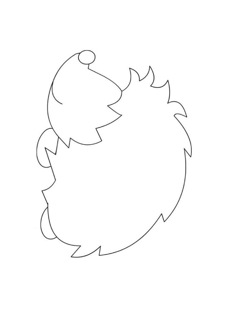 hedgehog outline craft template
