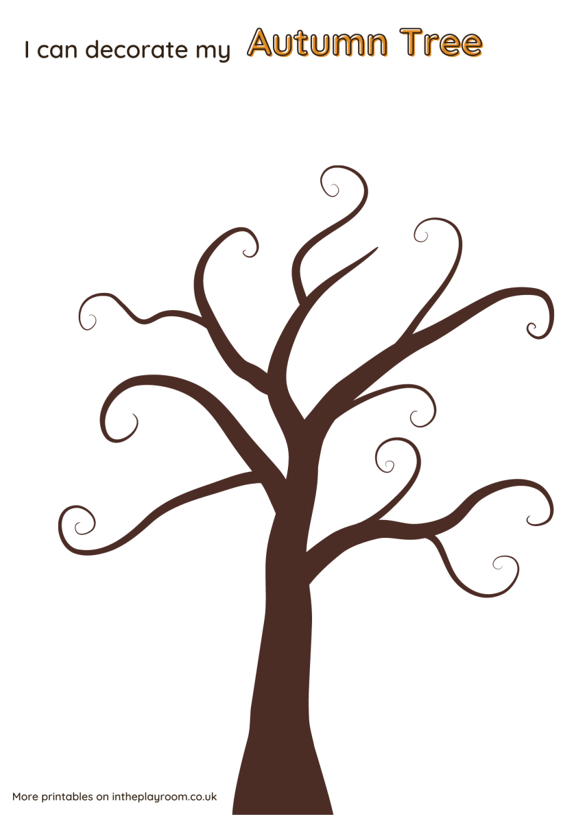 Autumn tree template fall tree printable template for crafts