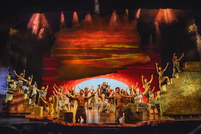 cast of The prince of Egypt Musical dominion theatre