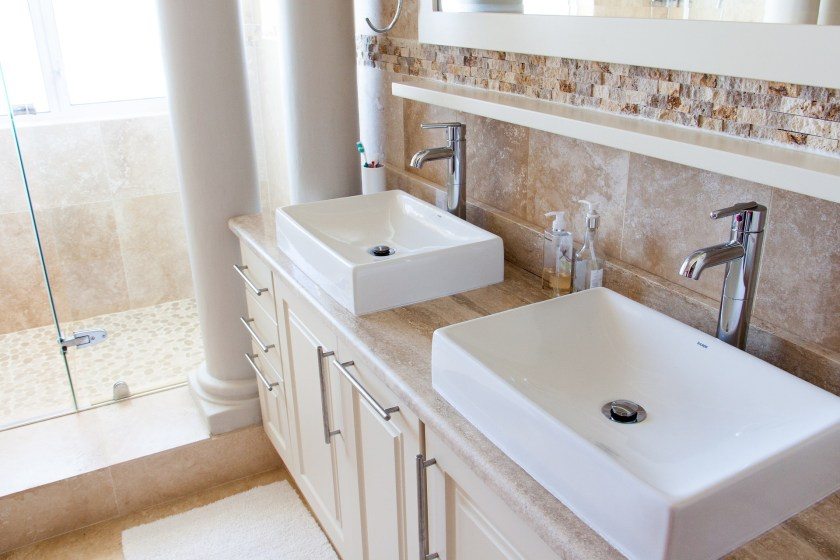 bathroom his and hers sinks