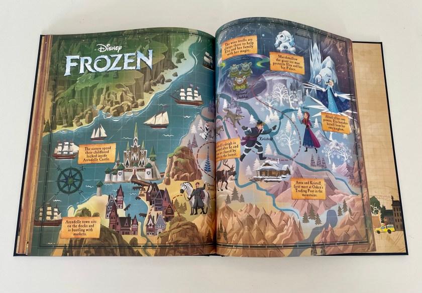 Disney book of maps Frozen map
