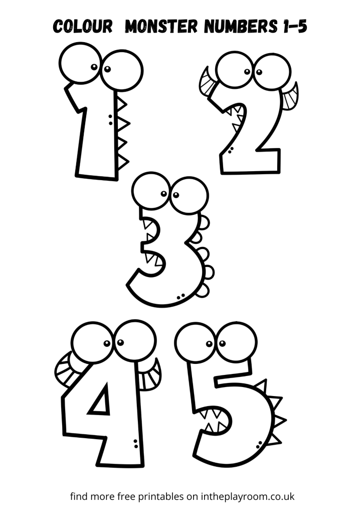 color monster numbers one to five