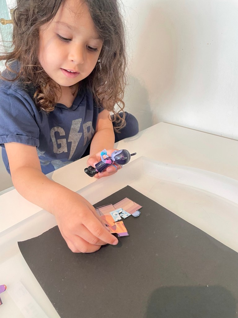 cutting and sticking craft for kids at halloween