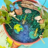 Life Cycle Of A Frog - Squishy Sensory Bin Fun