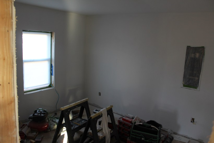Master bedroom with primer