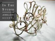 Soldered silver beaded bracelet