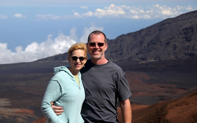 Rox & Shane on top of the world, Haleakala, Maui