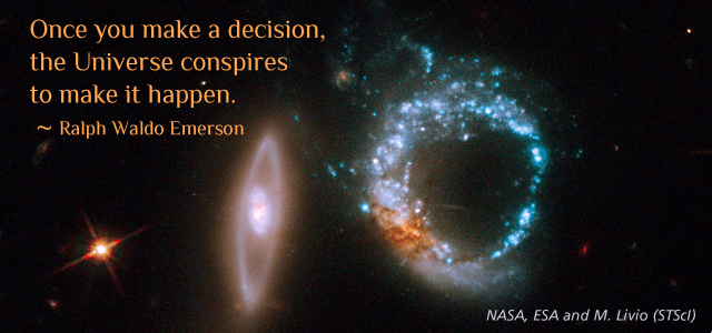 Hubble Space Photo with Emerson quote