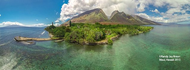 Maui, from the air via drone, photo by Randy Jay Braun