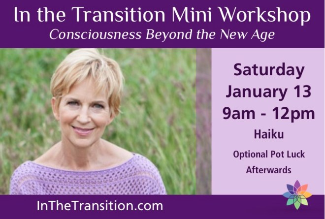 Spiritual Mindset - In the Transition Mini Workshop flyer