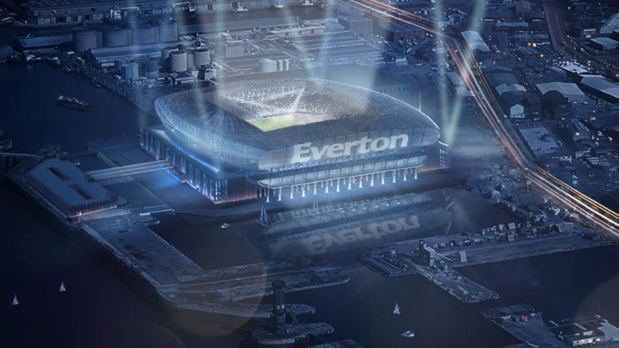 Στιγμιότυπο από το βίντεο παρουσίασης του νέου γηπέδου της Έβερτον!