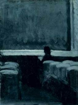 """Untitled, """"Solitary figure in theatre"""" by Edward Hopper"""