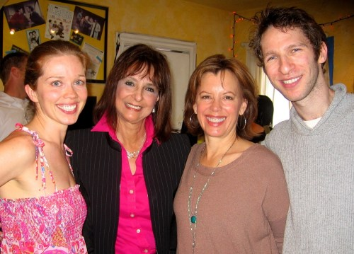 Actress Virginia Newcomb, Help Group CEO Barbara Firestone, and actors Jeanie Hackett and Dan Shaked.