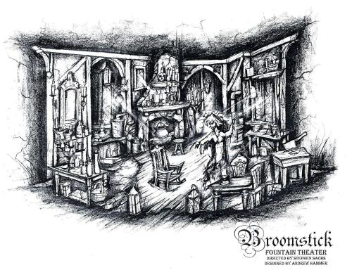 'Broomstick' set design by Andrew Hammer