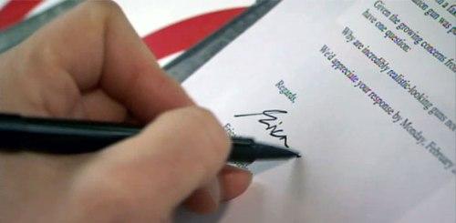 sign letter