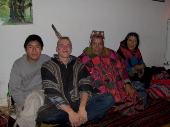 Inti Wasi 23 november 2007 eerste ontmoeting met een Sjamaan Don Sebastian uit Peru