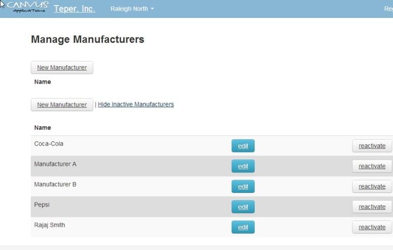 Software de control de inventarios Canvus.